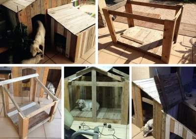 How to build a dog kennel out of wood